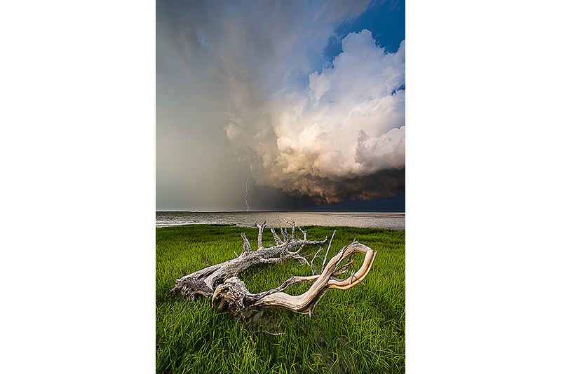 Summer storm over the saltmarsh
